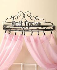 """Metal Sentiment Bed Crown Canopy Teester Curtain Drapery Holder """" Sweet Dreams"""""""