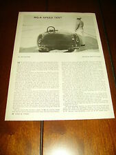 1960 MGA BONNEVILLE SPEED TEST   ***ORIGINAL  ARTICLE***