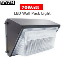 LED Wall Pack Light 60W 120W Outdoor Flood w// GLASS LENS 150w-450w Equivalent