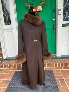 Natalie Green by Bert Newman Wool/Fur Coat 1950/60s