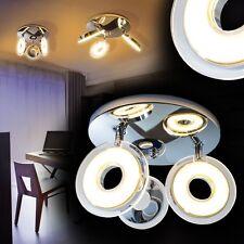 Deckenlampe LED Design Deckenleuchte Chrom Deckenspot Zimmer Deckenstrahler Flur