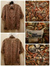 Reyn Spooner Hawaiian Shirt Size XL Fish and Geometric Print Aloha USA Pocket