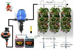 DIY 3 Tower Hydroponic Vertical Garden Kit - Water Mains Powered - Mr Stacky AU