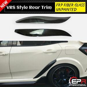 For 2017+ Honda Civic FK8 Typ R VS-Style FRP Rear Fender Add-On Trim Kits