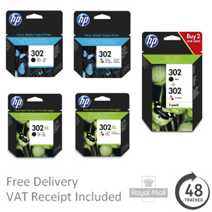 Original HP 302 / 302XL Black & Colour Ink Cartridges for HP Envy 4527