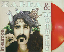 """FRANK ZAPPA & MOTHERS """"IN EUROPE"""" lp limited edition red vinyl unplayed"""