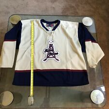 ECHL TULSA OILERS ICE HOCKEY TEAM VINTAGE STITCHED JERSEY VERY RARE ADULT XL