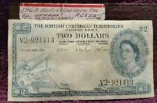1993 British Caribbean Territories, $2.00 NOTE, A.U.