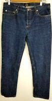 Women's A.P.C New Cure F Jeans Tres Etroit Fly Buttons Straight Leg Blue Sz 30