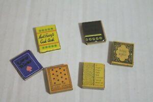 Dollhouse Miniature Set of 6 Books Holy Bible & Aunt Fanny's Cookbook