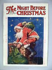 """The Night Before Christmas"" Frances Brundage art - circa 1930 ~~ Saalfield"