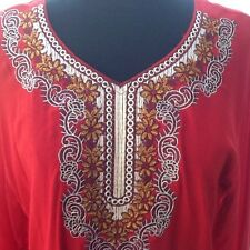 Ladies Embroidered Red Tunic - Large