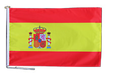 More details for spain state flag 3'x2' (90cm x 60cm) with rope and toggle