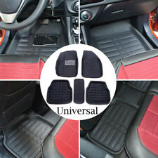 Universal Black Car Floor Mats Floor Liner Front & Rear Carpet All Weather Mat