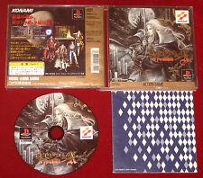 PS1 GIOCO CASTLEVANIA akumajo dracula x Sinfonia DELLA NOTTE NTSC-J di Importazione Del Giappone
