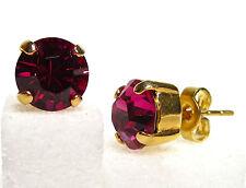 SoHo® Ohrstecker geschliffene Kristalle crystal gold fuchsia pink echtvergoldet