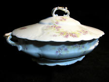 Antique Victorian Rosenthal Tilly Covered Tureen Bavaria Scallop Gold 1898-1906