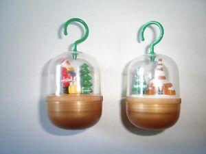 CHRISTMAS SHELL PENDANTS 2001 KINDER SURPRISE TOYS - XMAS DECORATION