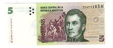 ARGENTINA NOTE 2012 5 PESOS SERIES H