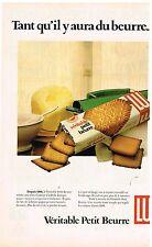 Publicité Advertising 1980 Biscuits le Veritable Petit Beurre LU