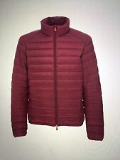 Save The Duck Men's Quilted Burgundy Coat Jacket Nylon Large New
