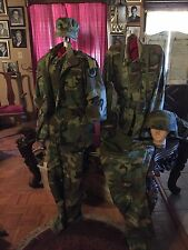 Military jacket, Uniforms Two, One Kevlar Helmet U.S. Army, lot set.