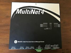 GE Multilin MultiNet4 MN4-LO-XX-AD-X Multi Port Serial Server & Managed Switch