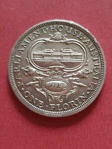 Australia 1927 Parliament House Florin (925 Silver)