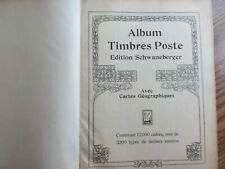 Very Old Schwaneberger 1916 Stamp Album with 250 stamps many pre 1900