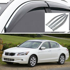 4x Window Visor Vent Deflector Sun/Rain Guards for Honda Accord Sedan 2008-2012