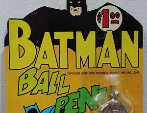 VINTAGE BATMAN & ROBIN BALL POINT PEN NOS MT MOC 1966 NPP OLD TOY STORE DISPLAY