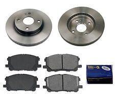 Front Ceramic Brake Pad Set & Rotor Kit for 1999-2000 Mazda Protege DX-LX