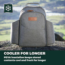 More details for heritage 2 person picnic set backpack 5l with peva insulation plates cutlery