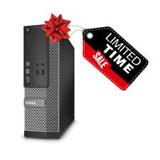 Custom Build Dell Quad Core i5 | 16GB | 3TB | SSD | Windows 10 WiFi Desktop PC