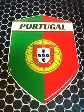 "Portugal Proud Shield Flag Domed Decal Emblem Car Sticker 3D 2.3""x 3.3"" Ronaldo"