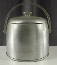 Vintage Barware Mid Century Modern KROMEX Lucite Aluminum Covered Ice Bucket