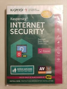 Kaspersky Internet Security 2016 SEALED - 3 devices - Windows, Apple, Android
