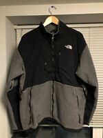THE NORTH FACE Denali Fleece Jacket Grey Black Sz XL Men's Full Zip PolarTec