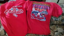 Lot of two ( 2 ) Phillies t-shirts. Size L and size M. Worn once.