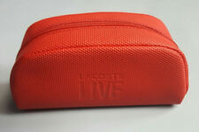 LACOSTE LIVE LARGE RED ZIPPERED SUNGLASSES CASE