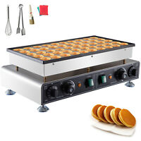 Electric Dutch Pancake Baker Commercial Waffle Maker Poffertje Maker 50pcs 1600W