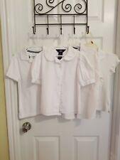 Lot X4 Girls School Uniform White Shirts ClassClub/Lee/Austin/Old Navy Size 8