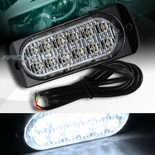 12 LED WHITE CAR EMERGENCY BEACON HAZARD WARN FLASH STROBE LIGHT BAR UNIVERSAL