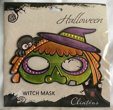 Witch Halloween Mask - Metallic - Clintons - Brand New