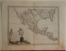MEXIDO TEXAS FLORIDA LOUISIANA U.S.A. CENTRAL AMERICA 1785 ZATTA ANTIQUE  MAP