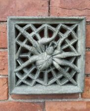STONE GARDEN GOTHIC SPIDER AIR BRICK SQUARE TILE WALL PLAQUE