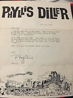 PHYLLIS DILLER (D. 2012) 7/20/1978 SIGNED LETTER ON HER PERSONAL STATIONARY!!!!!