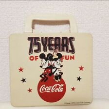 Rare Mickey Minnie Can Lunch Box Case Disney Coca Cola 75 Years Of Fun