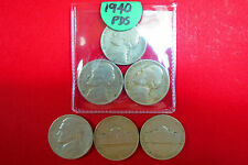 1940  Lot of  3  JEFFERSON  NICKELS PDS Mints in Very Good Circulated Condition