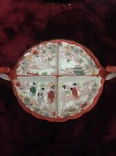 Hand Painted Decorative Plate with Dividers